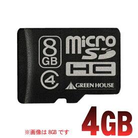 グリーンハウス microSDHCカード GH-SDMRHC4G4 4GB 【TC】