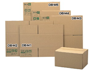 段ボールボックス(ダンボール) 【幅45×奥行35×高さ33(cm)】DB-M4(ダンボール箱・梱包資材・引越しや衣替えに便利・収納家具、食器、家電の整理に) 【アイリスオーヤマ】