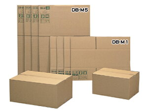 【お得な5枚セット】段ボールボックス(ダンボール) DB-M1 【幅44×奥行32×高さ23.6(cm)】【アイリスオーヤマ】(ダンボール箱・梱包資材・引越しや衣替えに便利・収納家具、食器、家