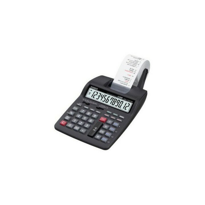 【送料無料】【電卓 12桁】プリンター電卓【プリンタ オフィス 会社】カシオ HR-170TM-BK-N【D】【HD】