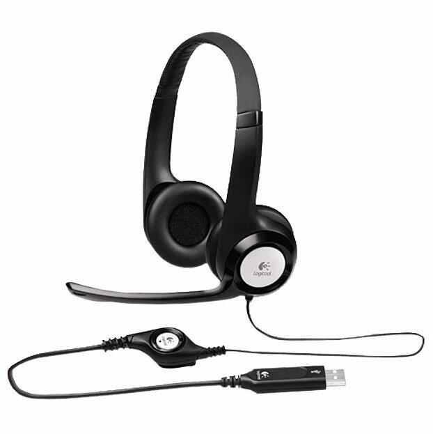 USB ヘッドセット ブラック H390送料無料 ヘッドセット マイク USB スカイプ テレビ電話 パソコン ロジクール 【D】 【メール便】