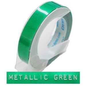 [ダイモ]DYMO 9mmダイモグロッシーテープ 9ミリメタリックグリーン DM0903MGR