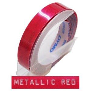 [ダイモ]DYMO 9mmダイモグロッシーテープ9ミリメタリックレッド DM0903MRD