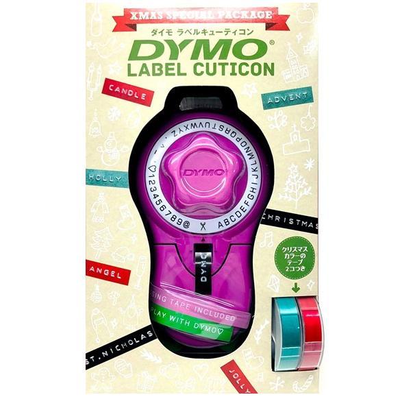 [ダイモ]ダイモテープライター DM814580CPクリスマスパッケージDYMO ピンク キューティコンテープ2本のおまけ付き