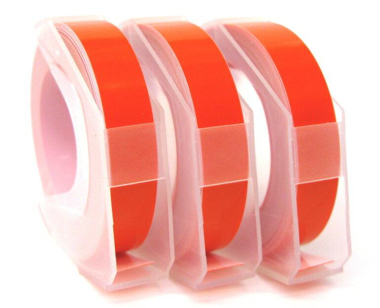 [マシューズ]ダイモ専用テープDYMO ダイモ互換用グロッシーテープ 9ミリ オレンジ【RM900OR】