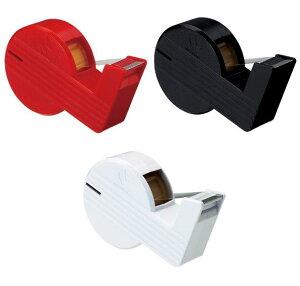 [ニチバン]セロテープ 直線美ミニ小巻テープカッター付(赤・黒・白)