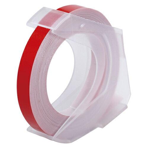 [マシューズ]ダイモ専用テープDYMO ダイモ互換用グロッシーテープ 6ミリ 赤RM906RD