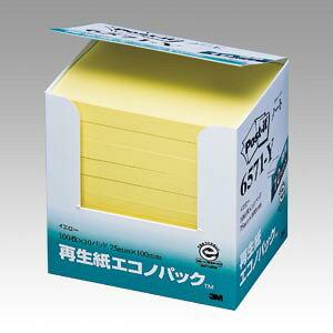 [住友スリーエム]ポストイット再生紙エコノパック(100x75mm)【6571-Y】