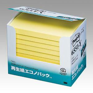 [住友スリーエム]ポストイット再生紙エコノパック(127x76mm)黄【6551-Y】