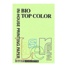 [伊東屋]バイオトップカラーA4判 BT106ミディアムグリーン 100枚入 80g/m2