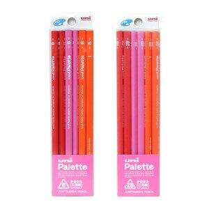 【名入れ不可】三菱鉛筆 uni Palette(ユニパレット) かきかた鉛筆 芯:B・2B 三角鉛筆 12本入 ピンク 4826 [M便 1/5]