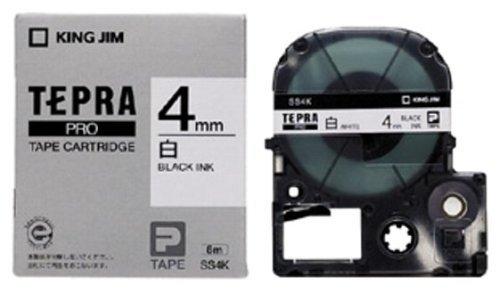 【4mm・6mm・9mm・12mm巾/白地・黒文字・8m】 キングジム テプラプロ専用テープ(テプラテープ) SS4K・SS6K・SS9K・SS12K ◆◆
