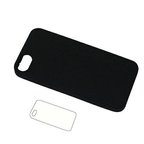 iPhone5専用ケース iPhone5s<iPhone SE>対応 シリコン樹脂ケース 液晶フィルム・クリーナー付 全2カラー[ゆうメール便専用・送料無料]