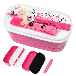 Barbie<バービー>2段ランチ<2段お弁当箱>SB-OL04-PKPW-4日本製<バービー新入学・限定シリーズ>【予約販売:2015年2月21日発送予定】