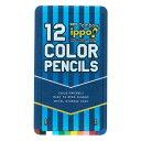 【お名前入れ不可品 大特価】トンボ ippo!<イッポ> スライド缶入色鉛筆 12色 CL-RRM0312C