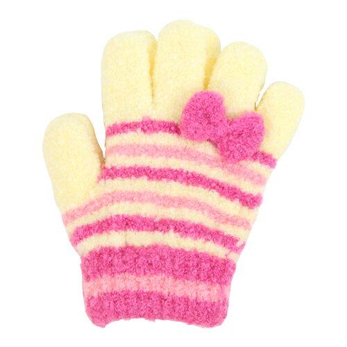 子ども用手袋 Cuty Kids <5本指タイプ> リボン柄 45151