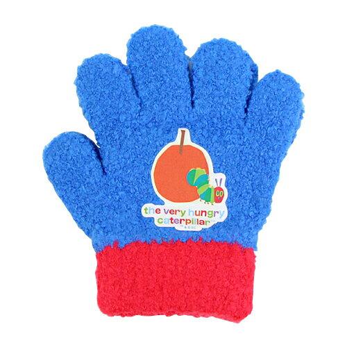 エリック・カール はらぺこあおむし 子ども用手袋 <5本指タイプ> ブルー ec41818
