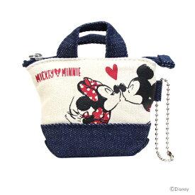 ミッキーマウス ミニーマウス ミニチュアトートコインケース<小銭入れ・財布> ミッキー&ミニー柄 47867 【disneyzone】