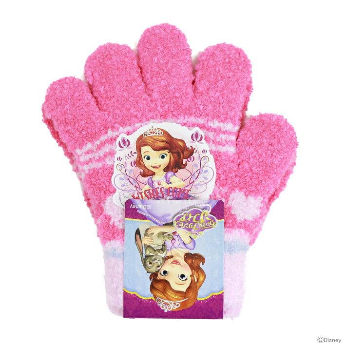 ちいさなプリンセスソフィア 子ども用手袋 <5本指タイプ> トドラーサイズ ローズ pr41188 【disneyzone】