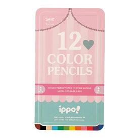 [名入れ不可]トンボ ippo<イッポ> スライド缶入色鉛筆 12色 CL-RRW0412C 新入学文具 [M便 1/2]