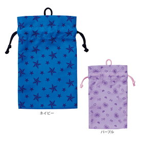 クツワ 巾着<給食袋> 2カラー STAR LINE<スターライン> st115-ktu 新入学文具 [M便 1/5]