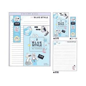 cho-bitレターセット BLUE STYLE柄 09370 [M便 1/1]
