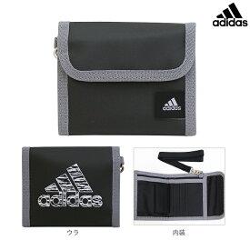 アディダス 三つ折り財布 ブラック×シルバー 6303201