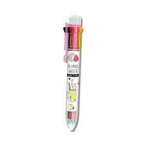 8色ボールペン ANIMALS WEEK柄 71503 [M便 1/10]