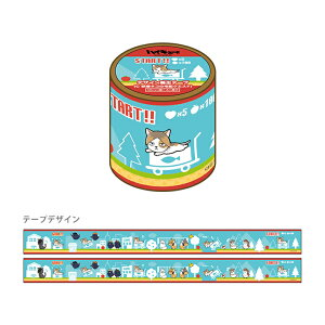 ハイキュー!! デザイン養生テープ C 研磨ネコの宅配クエスト柄 4901772385714