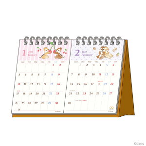 [20%OFF]ディズニー チップ&デール 2022年 デスクカレンダー2ヶ月 4901770654614 [M便 1/1][予約販売9月1日頃発送予定] [disneyzone]