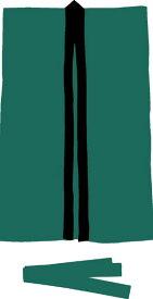 アーテック サテンロングハッピL <はちまき付き> 緑 1150【袖無し】