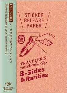 【メール便対応可】midori(ミドリ) 「TRAVELER'S notebook(トラベラーズノート)」「B-Sides &Rarities」 リフィル シール台紙 パスポートサイズ 14437006