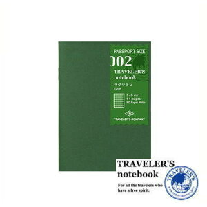 【メール便対応可】 midori(ミドリ) 「TRAVELER'S notebook(トラベラーズノート)」 002 リフィル セクション (パスポートサイズ) 14369006