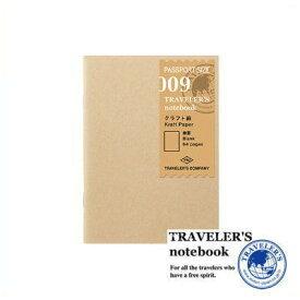 【メール便対応可】 midori(ミドリ) 「TRAVELER'S notebook(トラベラーズノート)」 009 リフィル クラフト紙 無罫(パスポートサイズ) 14373006