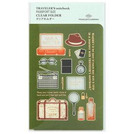 【在庫処分】【メール便対応可】midori(ミドリ) 「TRAVELER'S notebook(トラベラーズノート)」クリアホルダー 2020 パスポートサイズ 14414006