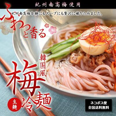 紀州南高梅使用韓国風梅冷麺4食スープ付