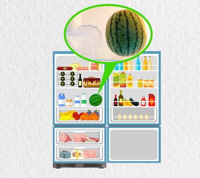 小玉すいかだから冷蔵庫でラクラク保存!