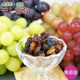 無添加 国産干しブドウ(干し蒲萄)50gシャインマスカット等種なし、皮ごとぶどうのみ。干しぶどうドライフルーツ 砂糖不使用贅沢なレーズン ワインのおつまみにも!