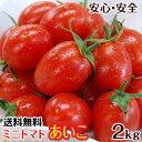 ミニトマトあいこ(アイコ)2kg【送料無料】和歌山のエコファーマーが減農薬・減化学肥料で作るこだわりの果肉・栄養…