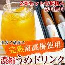 完熟梅ジュース(紀州南高梅使用)500ml2本セット化粧箱入2倍濃縮タイプ送料無料!香り高く濃厚なコクのある梅ドリン…