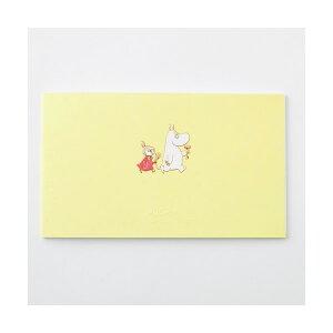 学研ステイフル/ ムーミン 一筆箋 (ふたり)(CD04550)黄色 エンボス加工が施された上品なデザイン シンプルでおしゃれ 金箔加工 CD045-50