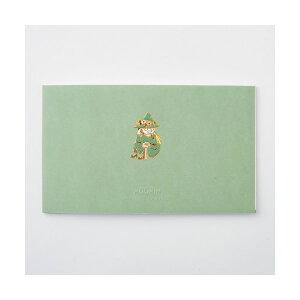学研ステイフル/ ムーミン 一筆箋 (スナフキン)(CD04551)緑 エンボス加工が施された上品なデザイン シンプルでおしゃれ 金箔加工 CD045-51