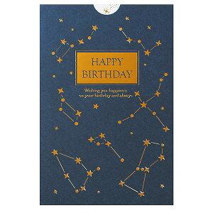 学研ステイフル/誕生日カード レーザーカット 箔 カード 星 (B38-294)金ホロ箔と銀ホロ箔の変化が綺麗な星座のバースデーカード B38294