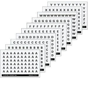 【全5種類】コクヨ/アルファベットシール 5種各60片(L-FCA)管理表示欄に貼付し、什器のロケーションを表します ファイル KOKUYO