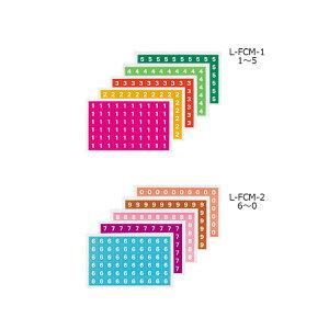 【全2種類】コクヨ/ナンバーシールミックス ハードカラー入り数 5種300片(L-FCM)数字 管理表示欄に貼付し、什器のロケーションを表します ファイル KOKUYO