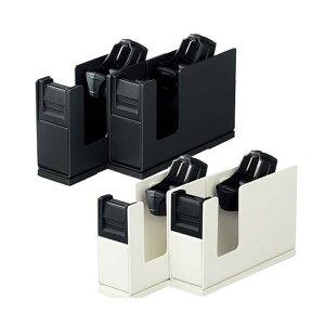 【大巻き・小巻き両用】コクヨ/テープカッター<カルカット>2連タイプ(T-SM110)1.7kg 軽い力でよく切れる、人気のテープカッターに小売店でよく使う2連タイプが登場! kOKUYO