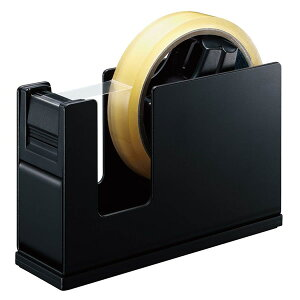 【大巻き・小巻き両用】コクヨ/ テープカッター<カルカット>(スチールタイプ)黒(T-SM111D)スチール製でコンパクト KOKUYO