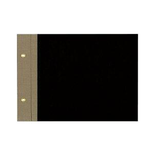コクヨ/綴込表紙A A5横 2穴(ツ-16)黒 破損しやすい背部を布貼りにした、丈夫な綴込表紙 KOKUYO