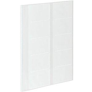 【A4サイズ】コクヨ/カードファイルα<ノビータα>(ラ-NF100T)透明 収容数100名 台紙枚数5枚 ヨコ入れポケット 名刺やカードの整理に最適なカードファイル KOKUYO