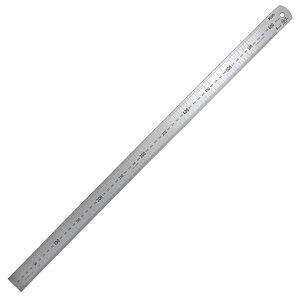 プラス/定規・ステンレス直尺(47-743) 長さ60cm 厚さ1.2mm 幅30mm シルバー 反射防止加工あり カッターを使っても安心